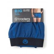 Traders Navy Striped Trunks - Navy 6XL