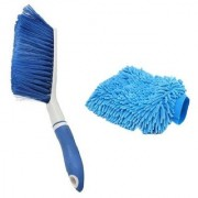 Kurvz Carpet Brush Microfibre Wet and Dry Brush with Microfiber Glove