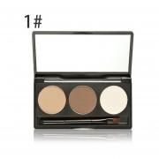 EY Meloision 3 Colores/Set Maquillaje De Cejas Moda Potenciador De Crema En Polvo-3 Colores