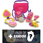 Pretty Purse Fill and Spill: First Play Series + 1 FREE Pair of Baby Socks Bundle [30496]