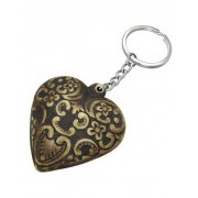 Decorated Heart - Nyckelring i organisk ben
