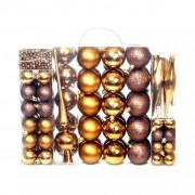 Sonata Комплект коледни топки от 113 части, 6 см, кафяво/бронз/злато