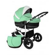 El-Jot Wózek dziecięcy Diuk 3w1 - D42 - Seledynowy