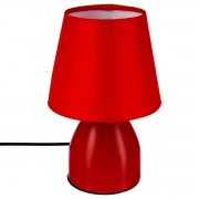 Atmosphera Lampe de chevet Rouge/Gris H19,5