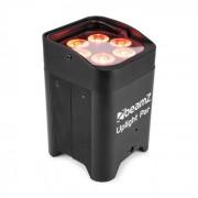BBP96 Par Uplight 6x12W LEDs RGBAW-UV 6 em1 72W 12,6V/10,4Ah Bateria Preto