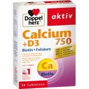 Queisser Pharma GmbH & Co. KG DOPPELHERZ Calcium 750+D3+Biotin Tabletten 30 St