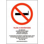 Tilos a dohányzás matrica - 17x25cm