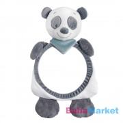 Nattou plüss babafigyelő tükör Loulou, Lea and Hyppolite - Loulou, a panda