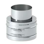 Tecnovis DW KL 37A080 prechod na jednoplášť o80mm dovnútra DWKL/EWKL