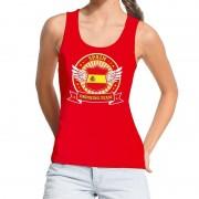 Shoppartners Rood Spain drinking team tanktop / mouwloos shirt dames