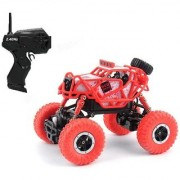 Emob Red Devil Racing Rally Rock Through Off-Road 4 Wheel Rechargeable Remote Control Rock Crawler Car with Solid Frame