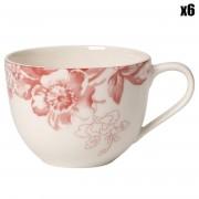Villeroy & Boch 6 Tasses à café Floreana Rouge multicolores - 23 cl
