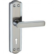 Atom Mortise Lock Set CP Satain Finish Two Sided Key Lock