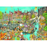 Puzzle King - Comic Collection - Amsterdam Queen's Day, 1.000 piese (05132)