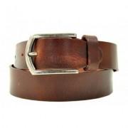 Petrol Leather Jeans Belt Brown ( 40871)