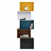 [en.casa]® Комбинация от шкафове за стена, разноцвета, 45x40x150cm