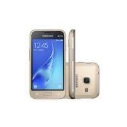 Smartphone Samsung Galaxy J1 Mini Duos SM-J105B/DL, Quad Core 1.2 Ghz, Android 5.1, Tela 4´, 8GB, 5 MP, 3G, Desbl - Dourado