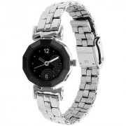 New Black Branded Type Best Designing Stylist Looking Analog Wactch For Women Girls