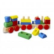 Melissa & Doug Fa készségfejlesztő játék, Építs vonatot