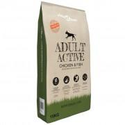 vidaXL Nourriture sèche pour chiens Adult Active Chicken & Fish 15 kg