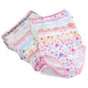 6pcs/pack Mix Colors Baby Girls Underwear Kids Children Girl Cotton Panties Short Briefs Children Underpants Hot
