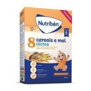 Papa 8 cereais e mel com leite adaptado 300g - Nutriben
