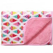 Бебешко двулицево одеяло - розово, 1408 03 Babyono, 0230024