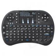 Rii RT-MWK08 + (ruso) mini Teclado tactil para 92 teclas - negro