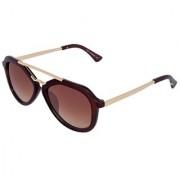 Silver Kartz Luxury Brown Sartaj Wayfarer Rectangular Sunglasses (Brown)