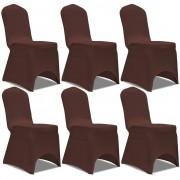 vidaXL 6 db nyújtható szék huzat barna