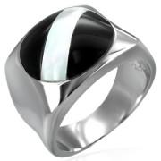Inel Otel Inox cu Onix RS-253
