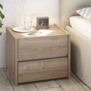 Zendart Design Sélection Set de 2 tables de chevet à 2 tiroirs Lina par Zendart Sélection