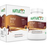 Naturyz Methylcobalamin B12 5000mcg Sublingual tablets Orange flavor 60 Tablets