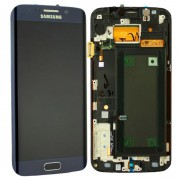 Estrutura para a Parte da Frente e Ecrã LCD para Samsung Galaxy S6 Edge - Preto