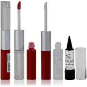 Glam21 2in1 Longlasting Waterproof Red Lip Gloss Pack of 1 Free Kajal-03