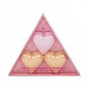 Makeup Revolution London I Heart Revolution Metallic Heart Fizzer set cadou set cadou Rose