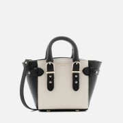 Aspinal of London Women's Marylebone Micro Tote Bag - Monochrome