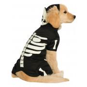 Vegaoo Självlysande skelettdräkt för hundar till Halloween Small (38)