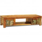 vidaXL TV meubel van hergebruikt hout met twee deuren in antiek-look
