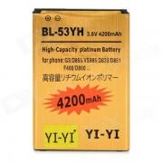 """decodificado bateria """"4200mAh"""" li-ion para LG G3 / BL-53YH + mas - de oro"""