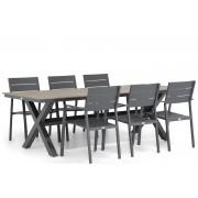 Lifestyle Garden Furniture Lifestyle Stella/Forest 240 cm dining tuinset 7-delig