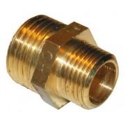 Messing fittings Metall Sexkantsnippel G25xG15