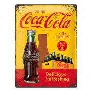 Merkloos Wanddecoratie Coca Cola 30 x 40 xm