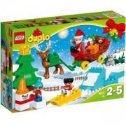 Конструктор ЛЕГО Дупло Зимната ваканция на Дядо Коледа, LEGO DUPLO, 10837