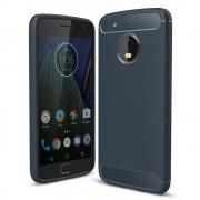 Husa MOTOROLA Moto G5 Plus - Luxury Carbon TSS, Albastru