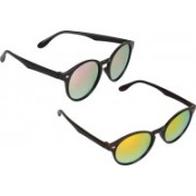 David Martin Oval Sunglasses(Pink, Orange)