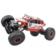 Kajal Toys™ Metal Alloy Body Double Motor 4X4 Remote Control Car 1:16 Scale Rock Crawler Car,X-Large Size, (Red)