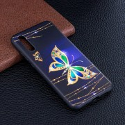 Stereo Alivio Suave TPU Protector Nuevo Caso, Para Huawei P20 Golden Butterfly Pattern