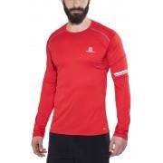 Salomon Agile Hardloopshirt lange mouwen Heren rood XXL 2016 Hardloopshirts