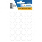 Geen 2x velletjes stippen stickers wit 19 mm 2x 100 stuks